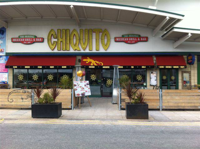 Fixed awning at Chiquito in Southport.