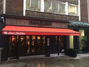 Bone Daddies Recover Traditional Victorian Awning London