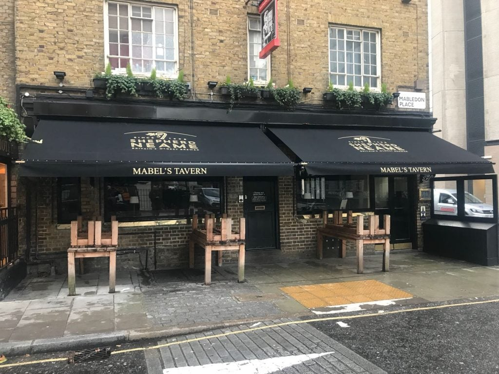 Victorian Awnings Installed by Radiant Blinds at Mabel's Tavern
