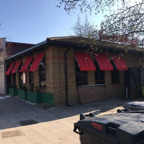 Restaurant awnings recovered