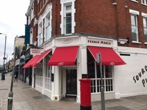 shop awnings for Franco Manca