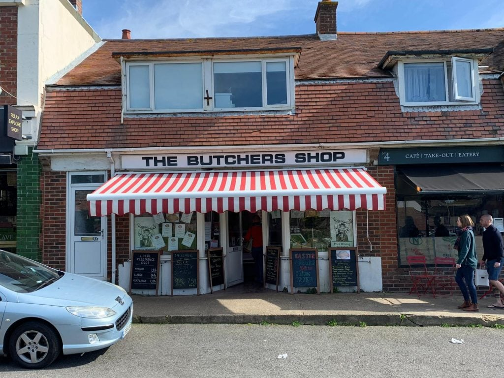 Butchers Shop Folding Arm Awning