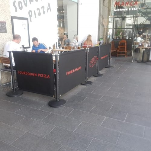 Cafe Barrier Screens Amp Posts Radiant Blinds Ltd