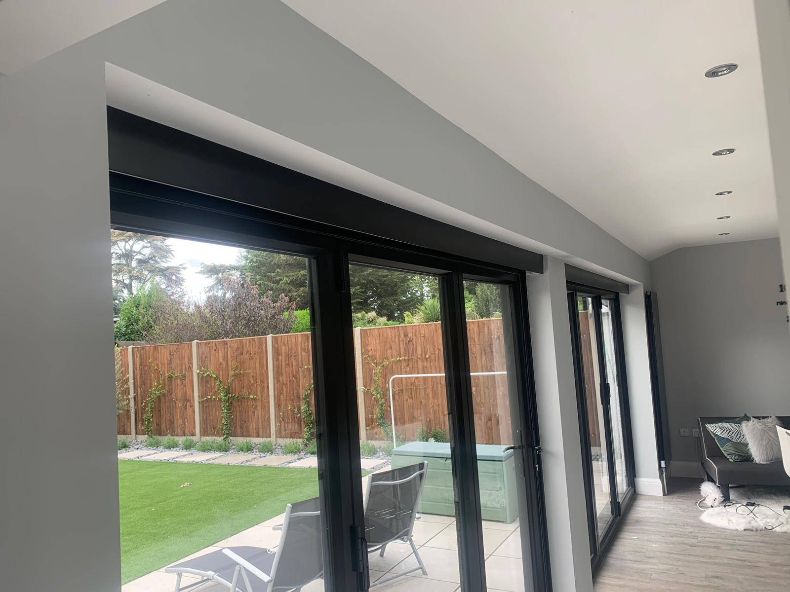Blinds for BiFold Doors Electric Operation   Radiant Blinds
