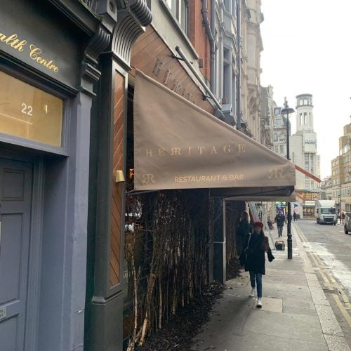 Recover and Sideblinds on Traditional Victorian Awning