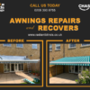 Awning repairs and recovers
